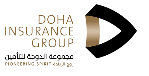 Doha Insurance Group White Logo dig